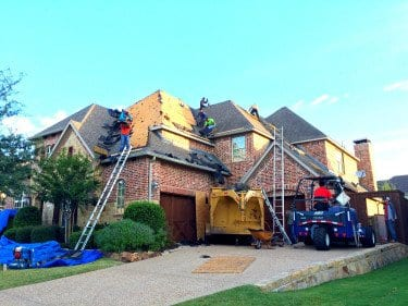 Residential roofing project in progess
