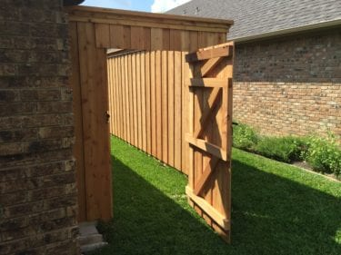 A beautiful new fence for a client in plano